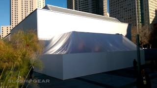 Apple Watch show area construction at Yerba Buena Center