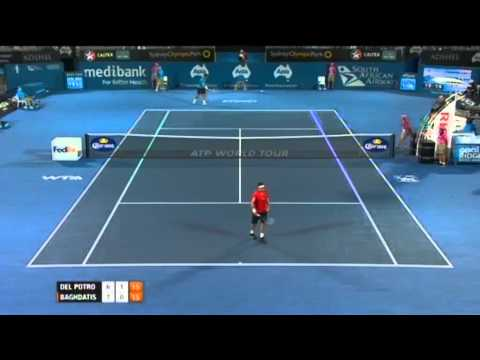 Juan Martin Del Potro v Marcos Baghdatis - Men's Singles Quarter Final: Sydney International 2012