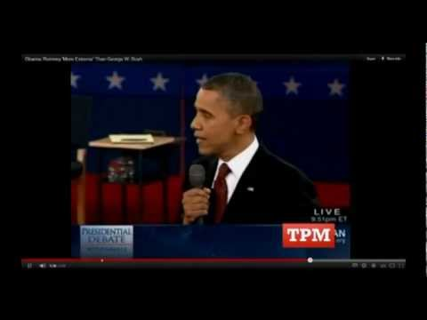 Obama: Romney Is Actually WORSE Than George W. Bush