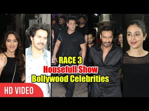 RACE 3 Housefull Show With Bollywood Celebrities | LIVE Screening | Salman Khan, Ajay Devgn & Many