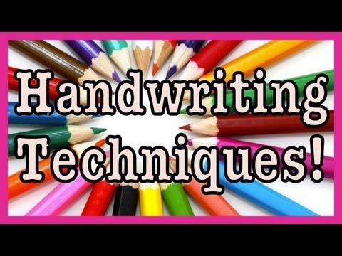 Handwriting Techniques! - Stylin' Font Saturday!