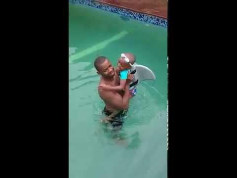 David Uses the SwimFin in Kubwa, Abuja Nigeria