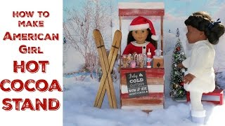 DIY American Girl Doll Cocoa Stand