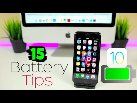 15 BEST Tips to Improve iPhone Battery Life on iOS 10 - 10.2!   iPhone 7 Battery Saving Tips 2017
