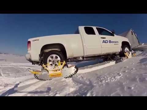 Как сделать из автомобиля снегоход за 15 минут не снимая колес