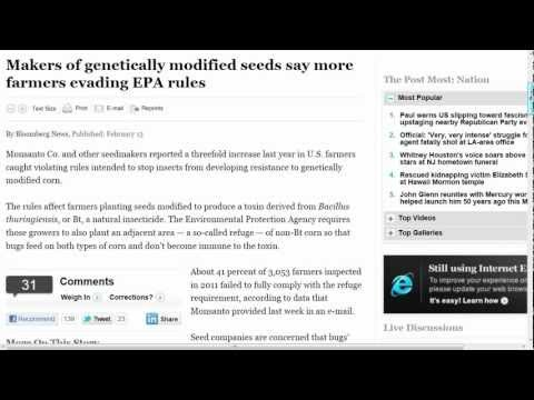 Monsanto Blames US Farmers: Insects Developing Resistance