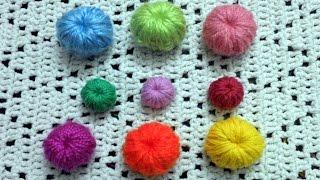 Curso crochet o ganchillo: Como tejer botones tutorial paso a paso. Moda a Crochet