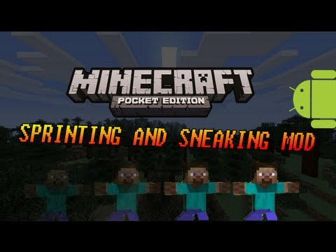 (Android) Minecraft PE: Sprinting + Sneaking Mod Showcase 0.6.1