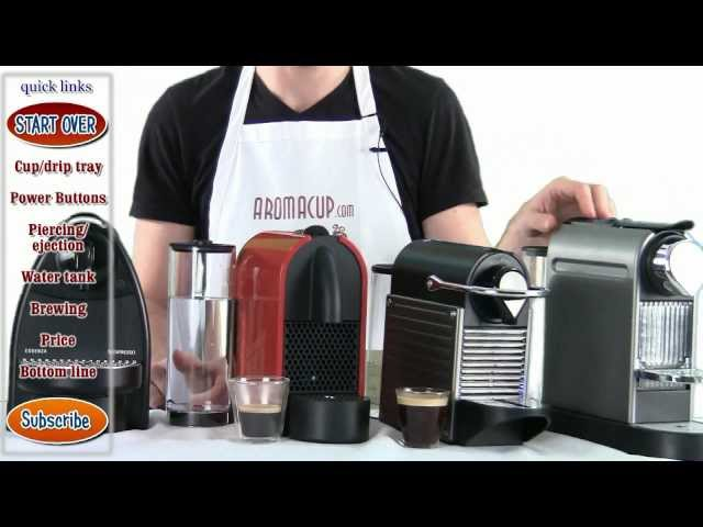 Nespresso Citiz vs Pixie vs U vs Essenza