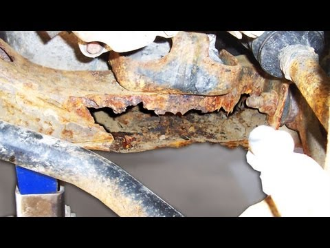 Reasonable DIY rust repair on a vehicle subframe. unibody. or frame.