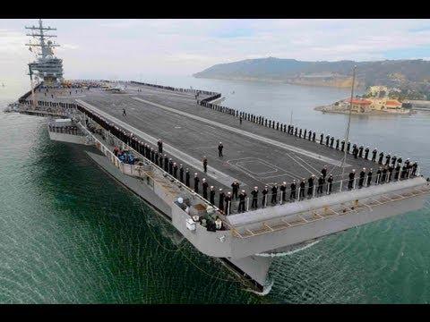USS Ronald Reagan US Military Navy Ship Tour Pilothouse Bridge Jet Aircraft Carrier