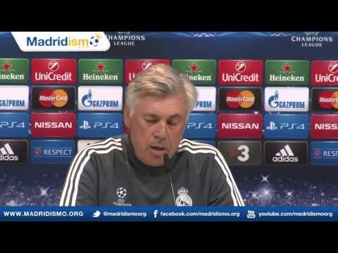 Rueda de prensa de James Rodriguez y Carlo Ancelotti, previa Liga de Campeones