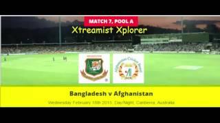 Bangladesh v Afghanistan, 6th ODI Match, ICC World Cup, 18th Feb, 2015