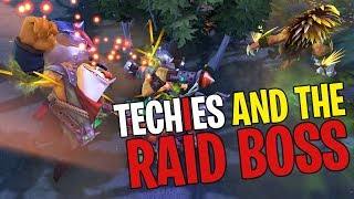 Techies and the Raid Boss - DotA 2 Funny Moments