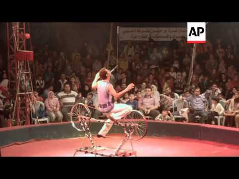 Egyptian circus tours Gaza for the first time since Israel's 1967 occupation