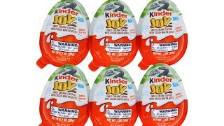 Kinder Joy Surprise Eggs Jurassic World Mini Dinosaurs Unboxing Toy Review Treat and Toy Blind Box