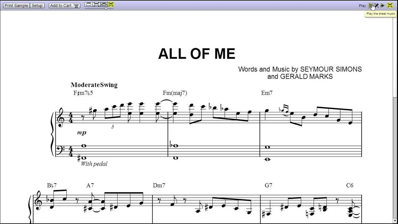 u0026quot;All of Meu0026quot; by Michael Bublu00e9 - Piano Sheet Music (Teaser) - YouTube