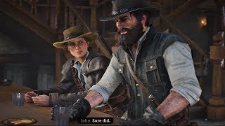 Red Dead Redemption 2 - John Marston Meets Sadie Years After Arthur's Death & Sadie Beats Up Guy