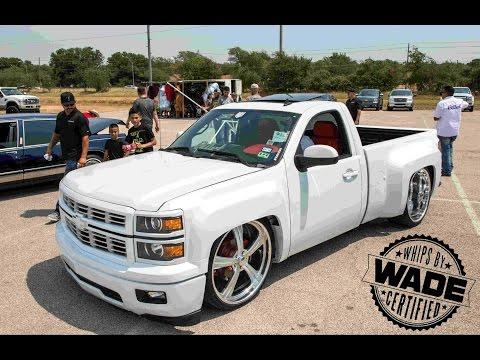 PEARL WHITE Short Bed Chevy C10 Silverado Truck On 28' Forgiatos