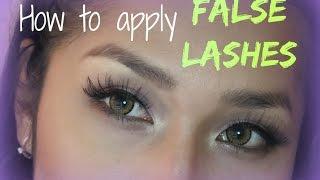 Cara Pasang Bulu Mata Palsu - How to Apply False Lashes (Makeup Tutorial Indonesia)
