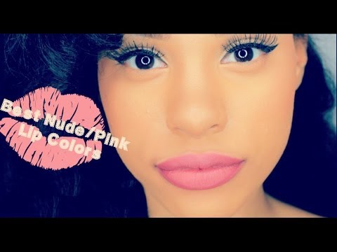 The Best Natural Lip Colors : Nude, Neutral & Pink Lip Color Swatches video