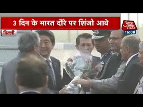 Japan PM Shinzo Abe Arrives In India