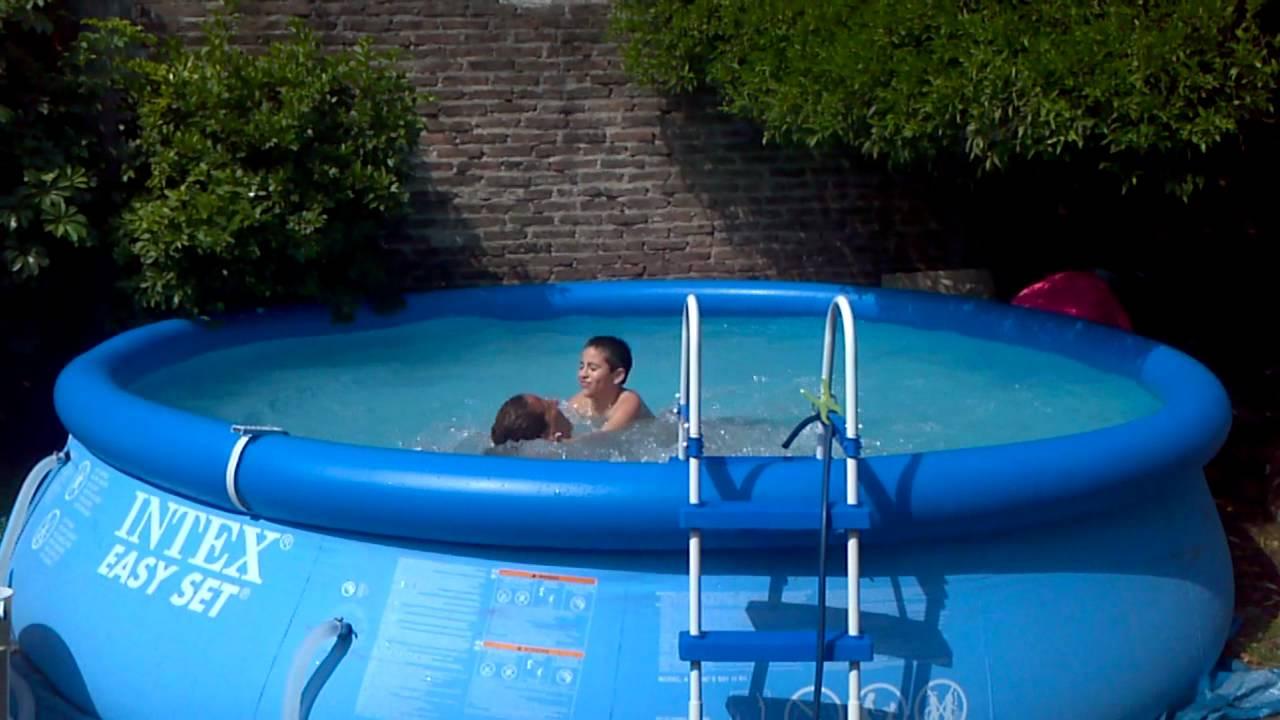 pileta de nataci n intex easy set youtube