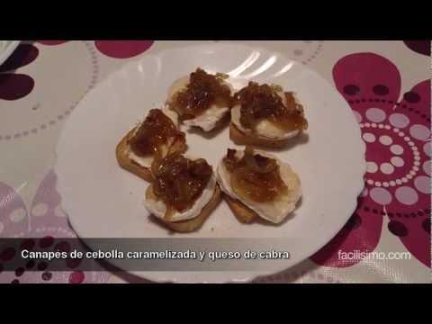 Canapés de cebolla caramelizada y queso de cabra | facilisimo.com