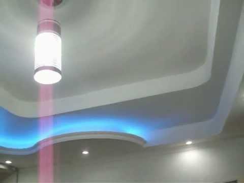Techo drywall deco ceiling dise o grupo ceiling youtube - Como instalar lamparas led ...