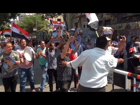EGYPT    Pro Elsisi demonstrators mark the Anniversary of Sinai Leberation