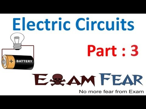 Physics Electric Circuits part 3 (Direction of current) CBSE class 12