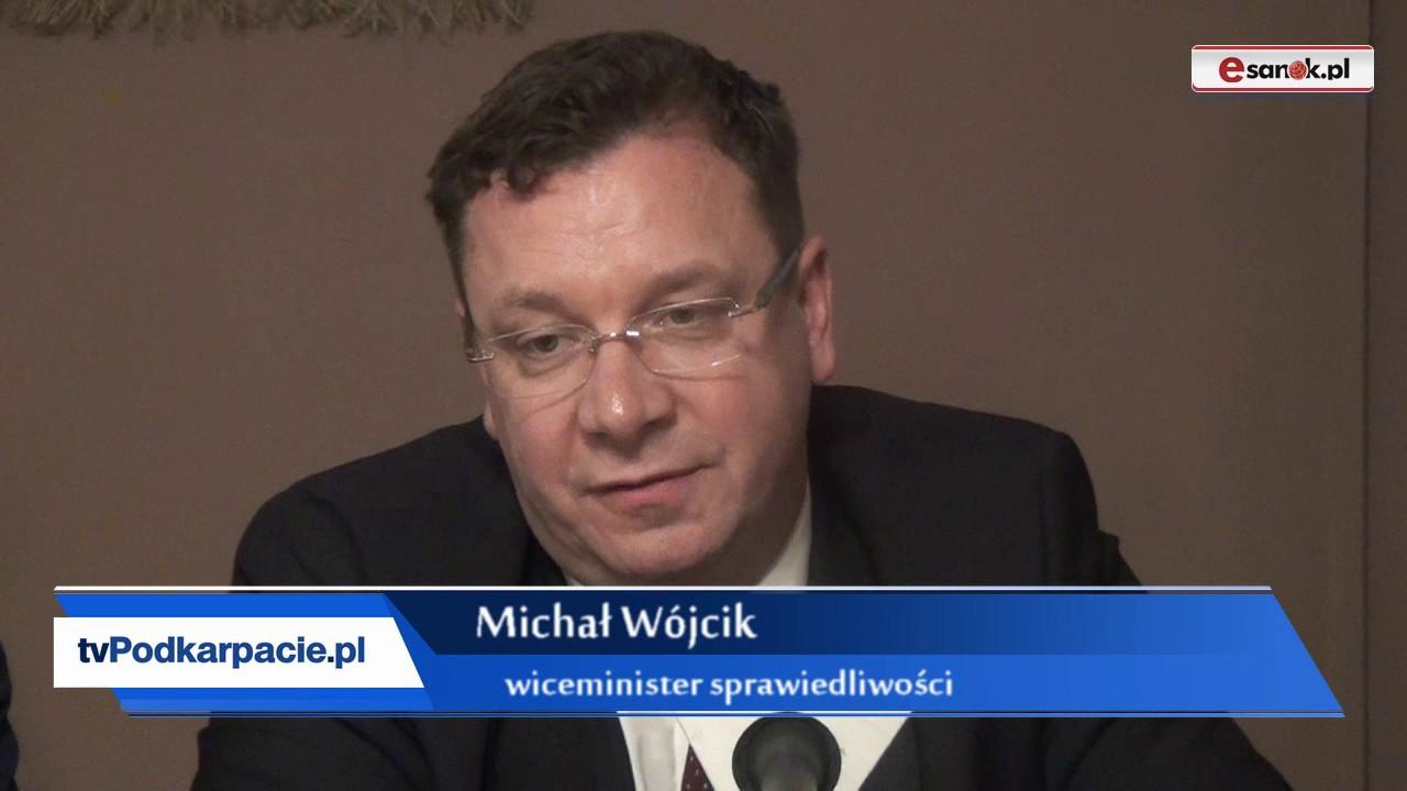 Wizyta wiceministra sprawiedliwości Michała Wójcika w Sanoku