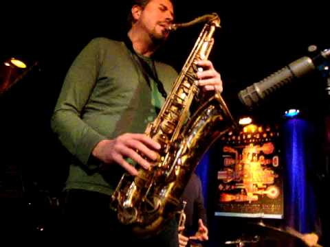 Karel Ruzicka Jr. jamming on Mr. PC at the A-Trane Jazz Club in Berlin, Germany