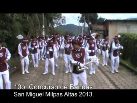 Concurso de Bandas  Escolares San Miguel Milpas Altas 2013.