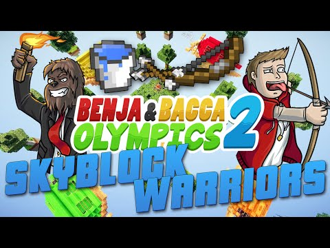 Egg Throw Challenge Benja & Bacca Olympics 2: SkyBlock Warriors - Game 1! (Minecraft)