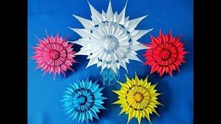 3D Schneeflocken Flowers  __3D_Snowflakes flowers - Art & Paper Crafts