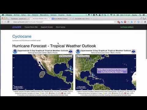 español - 9 de noviembre - riesgo de tormentas tropicales