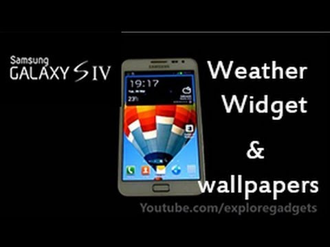 Galaxy S4 Weather Widget & Wallpapers For Galaxy Note (N7000) - How to install [Glory Rom]