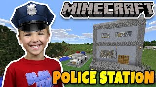 BUILDING REAL POLICE STATION in MINECRAFT SURVIVAL MODE