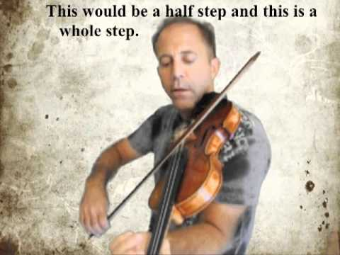 Learn to play the natural notes on the violin A-string.m4v