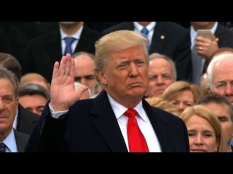 Donald Trump sworn in as 45th US President