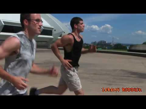 Athlete Free Run Parkour - Gay Kiss Muscle Worship, Pecs & Nipple (hd) video