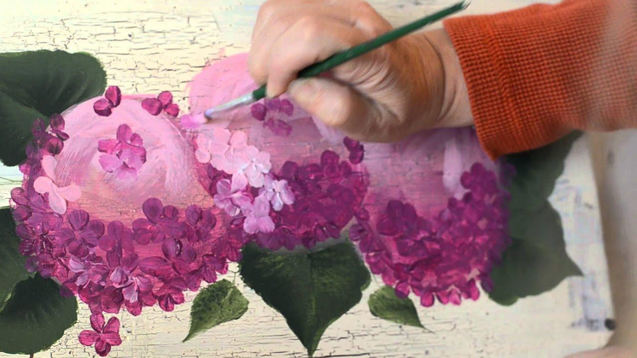 How To Paint Hydrangeas In Acrylic