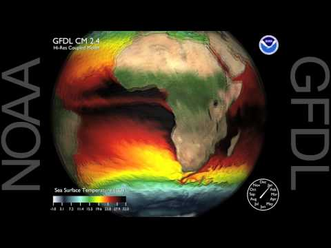 Modeling Dynamic Surface Ocean Currents Video