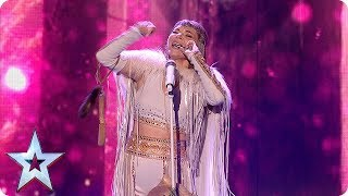 Beware of the WOLVES! Olena Uutai opens the show in style with unique act! | Semi-Finals | BGT 2018