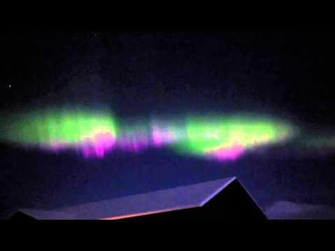 Aurora Borealis, Northern Lights Iceland Dec 2014 (actual Video not time lapse)
