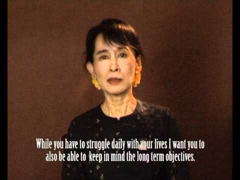 Message from Daw Aung San Suu Kyi to migrant and refugee women from Burma: Posted by MAP Foundation