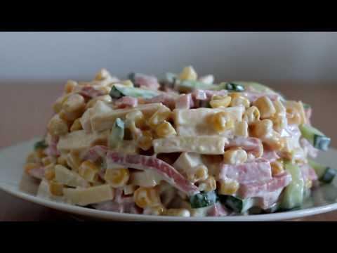 Три быстрых и вкусных салата с кукурузой (Домашний кулинар)