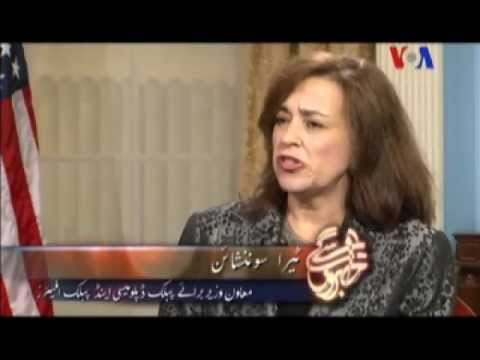 Cafe DC with Under Secretary Tara Sonenshine - Faiz Rehman - Urdu VOA