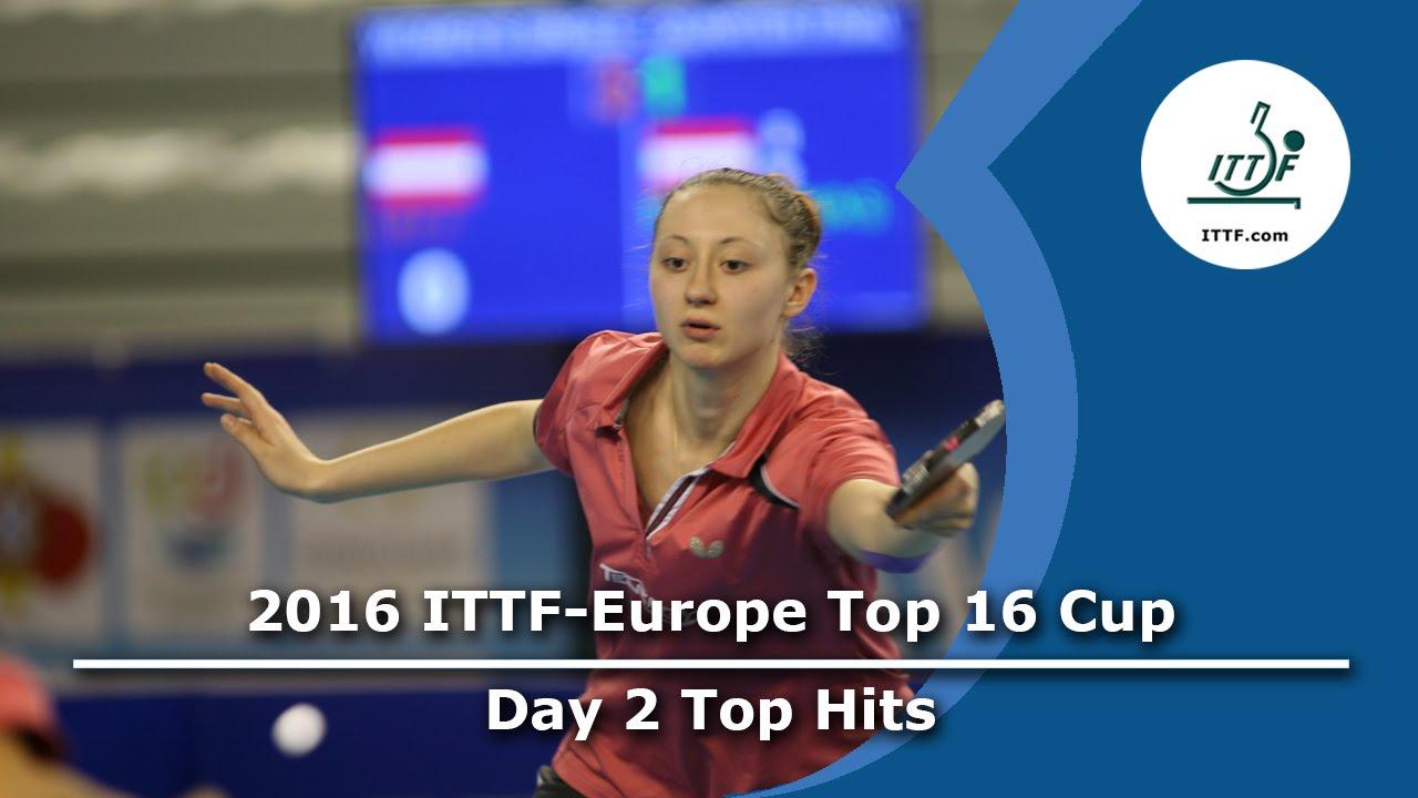 2016 ITTF-European Top 16 - Day 2 Top Hits